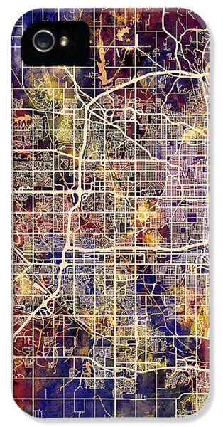Nebraska iPhone 5 Case - Omaha Nebraska City Map by Michael Tompsett
