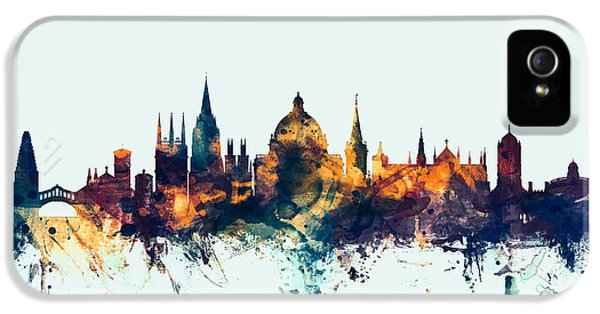 Oxford England Skyline IPhone 5 Case by Michael Tompsett