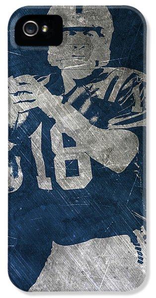Peyton Manning Colts IPhone 5 Case by Joe Hamilton