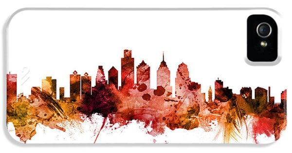 Philadelphia Skyline iPhone 5 Case - Philadelphia Pennsylvania Skyline by Michael Tompsett