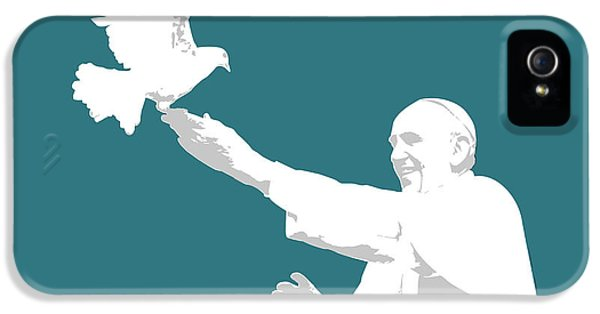 Pope Francis IPhone 5 Case by Greg Joens