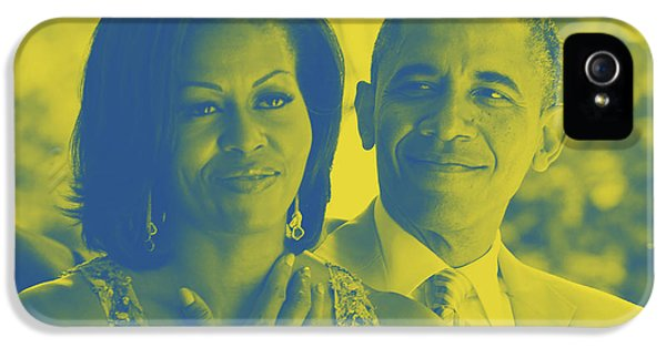 Portrait Of Barack And Michelle Obama IPhone 5 Case by Asar Studios