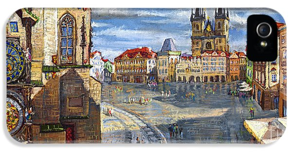 Town iPhone 5 Case - Prague Old Town Squere by Yuriy Shevchuk