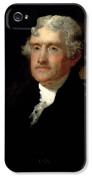 Thomas Jefferson iPhone 5 Case - President Thomas Jefferson  by War Is Hell Store