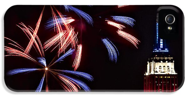 Red White And Blue IPhone 5 Case by Susan Candelario