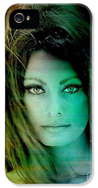 Sophia Loren IPhone 5 Case by Marvin Blaine