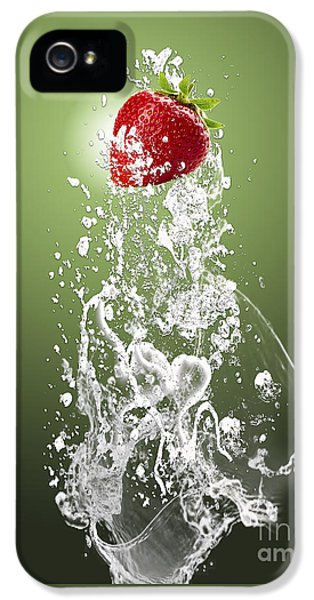 Strawberry Splash IPhone 5 Case by Marvin Blaine