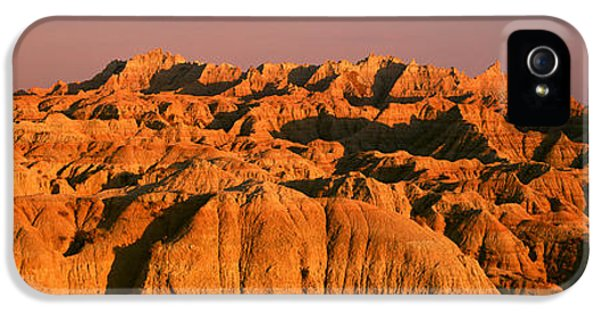 Sunset Panoramic View Of Mountains IPhone 5 Case by Panoramic Images