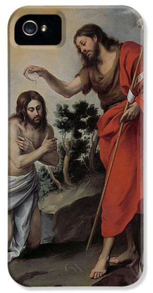 The Baptism Of Christ IPhone 5 Case by Bartolome Esteban Murillo