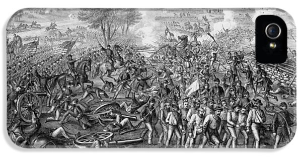 Gettysburg iPhone 5 Case - The Battle Of Gettysburg by War Is Hell Store
