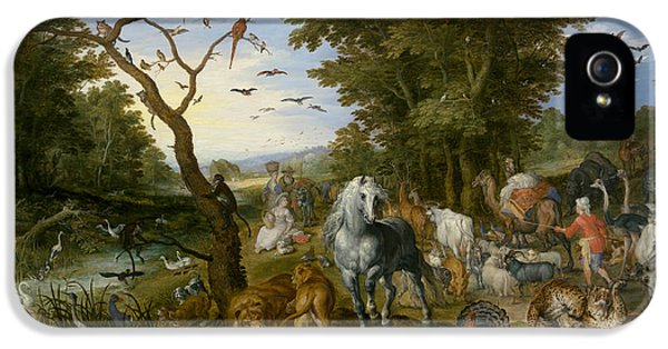 Ostrich iPhone 5 Case - The Entry Of The Animals Into Noah's Ark by Jan Brueghel the Elder