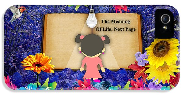 The Meaning Of Life Art IPhone 5 Case