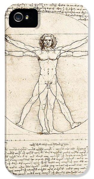 Nudes iPhone 5 Case - The Proportions Of The Human Figure by Leonardo Da Vinci