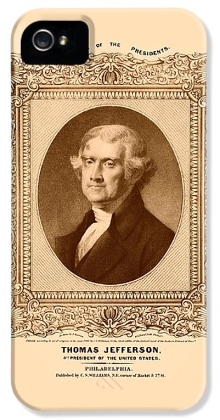 Thomas Jefferson IPhone 5 Case by War Is Hell Store