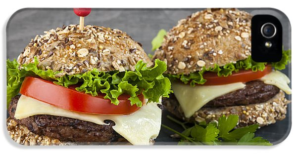 Lettuce iPhone 5 Case - Two Gourmet Hamburgers by Elena Elisseeva