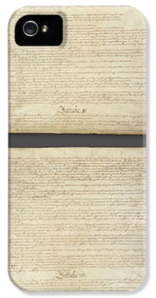 United States Constitution, Usa IPhone 5 Case by Panoramic Images