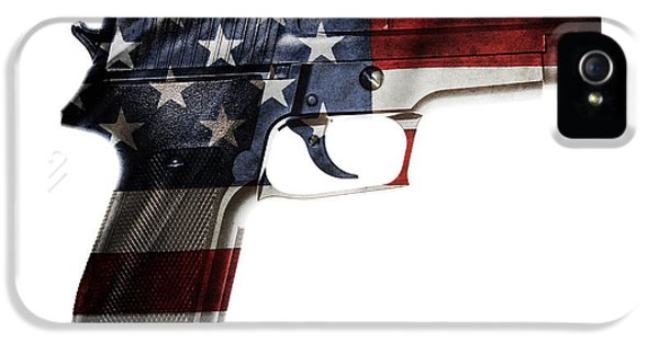 Usa Gun  IPhone 5 Case by Les Cunliffe