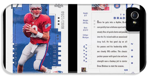 2000 Sp Authentic Tom Brady #118 IPhone 5 Case by Art Kurgin