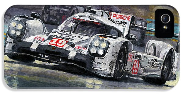 2015 Le Mans 24 Lmp1 Winner Porsche 919 Hybrid Bamber Tandy Hulkenberg IPhone 5 Case by Yuriy Shevchuk