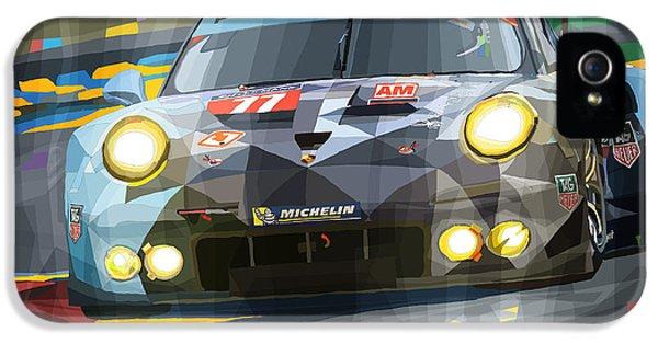 Car iPhone 5 Case - 2015 Le Mans Gte-am Porsche 911 Rsr by Yuriy Shevchuk