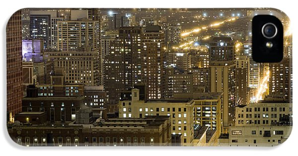Buildings In A City Lit Up At Night IPhone 5 Case