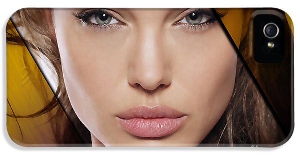 Angelina Jolie Collection IPhone 5 Case by Marvin Blaine