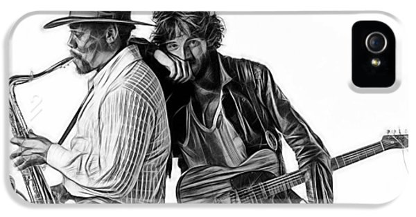 Bruce Springsteen Clarence Clemons Collection IPhone 5 Case by Marvin Blaine