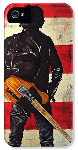 Bruce Springsteen IPhone 5 Case by Francesca Agostini