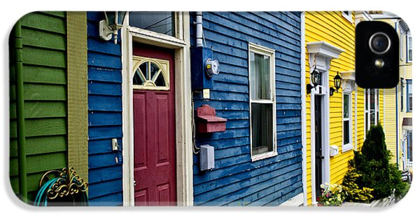 Newfoundland iPhone 5 Cases - Colorful houses in St. Johns iPhone 5 Case by Elena Elisseeva