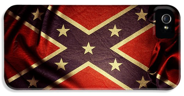 Confederate Flag IPhone 5 Case by Les Cunliffe