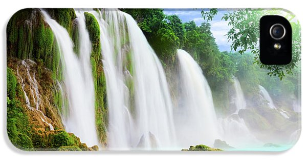 Detian Waterfall IPhone 5 Case by MotHaiBaPhoto Prints