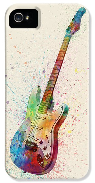 Electric Guitar Abstract Watercolor IPhone 5 / 5s Case by Michael Tompsett