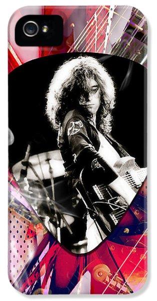 Jimmy Page Led Zeppelin Art IPhone 5 Case