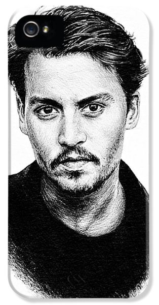 Johnny Depp IPhone 5 / 5s Case by Andrew Read