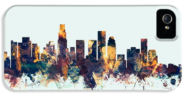 Los Angeles California Skyline IPhone 5 / 5s Case by Michael Tompsett