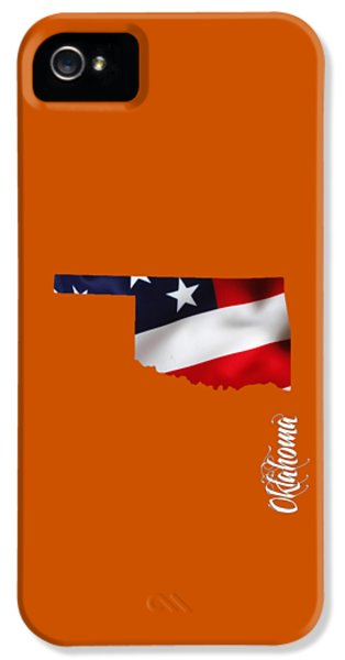 Oklahoma State Map Collection IPhone 5 Case by Marvin Blaine