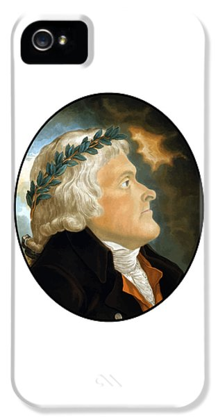 Thomas Jefferson iPhone 5 Case - President Thomas Jefferson - Two by War Is Hell Store