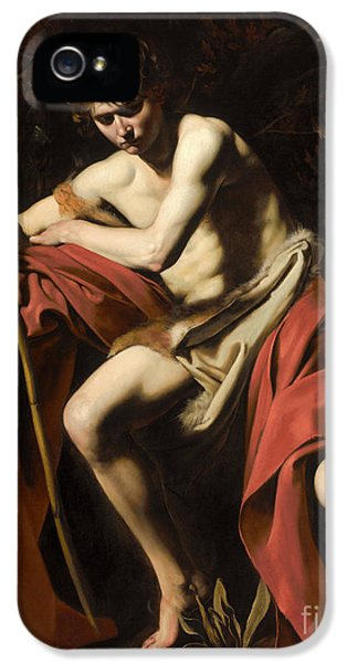 Saint John The Baptist In The Wilderness IPhone 5 Case by Caravaggio