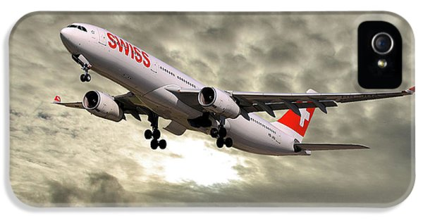 Jet iPhone 5 Case - Swiss Airbus A330-343 by Smart Aviation