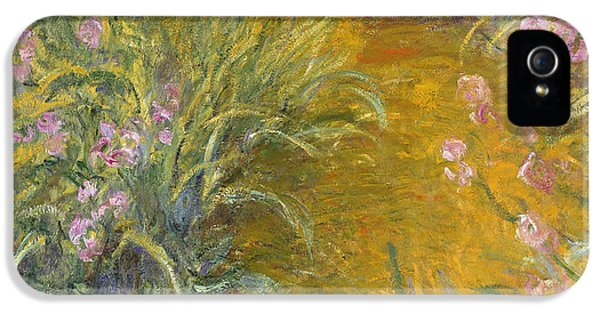 The Path Through The Irises IPhone 5 / 5s Case by Claude Monet