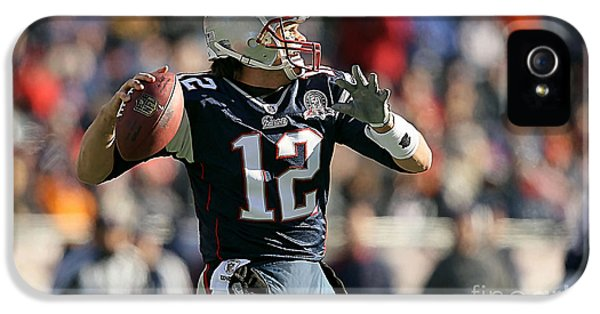 Tom Brady IPhone 5 Case by Marvin Blaine