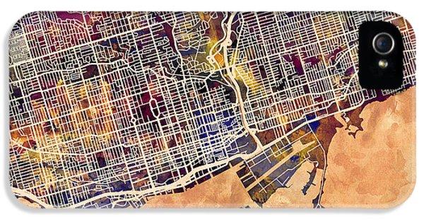 Toronto Street Map IPhone 5 Case