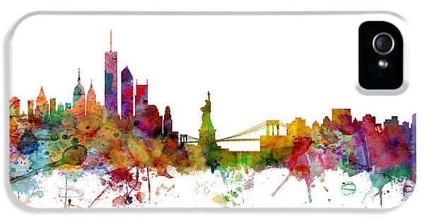 Apple iPhone 5 Case - New York Skyline by Michael Tompsett