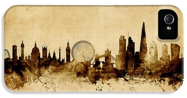 London England Skyline IPhone 5 Case by Michael Tompsett