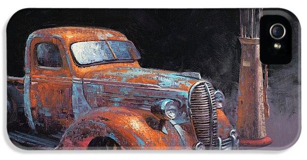 Truck iPhone 5 Case - 38 Fat Fender Ford by Cody DeLong