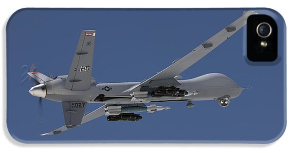 Reaper iPhone 5 Cases - An Mq-9 Reaper Flies A Training Mission iPhone 5 Case by HIGH-G Productions