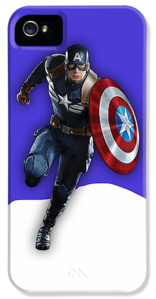 Captain America Collection IPhone 5 Case by Marvin Blaine