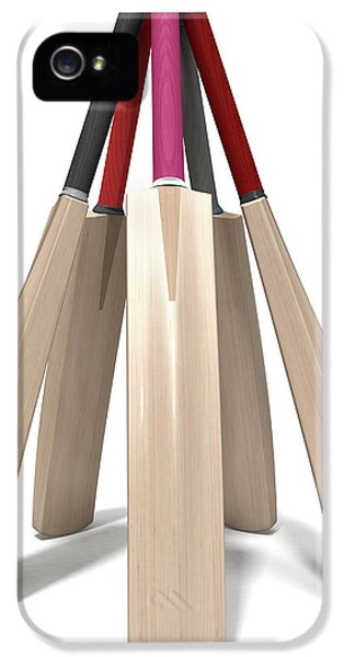 Cricket Bat Circle IPhone 5 Case by Allan Swart
