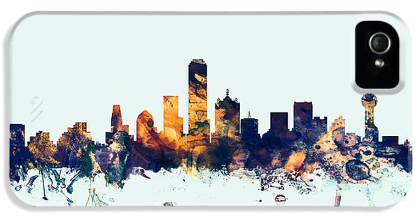 Dallas Texas Skyline IPhone 5 Case by Michael Tompsett