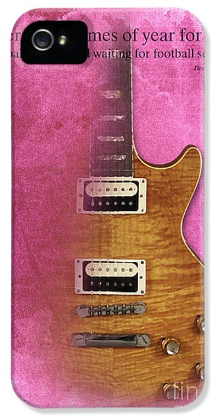 Darius Rucker Inspirational Quote, Electric Guitar Poster For Music Lovers And Musicians IPhone 5 Case by Pablo Franchi